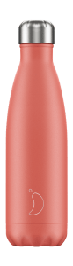 Botella isotermica 500ml coral pastel